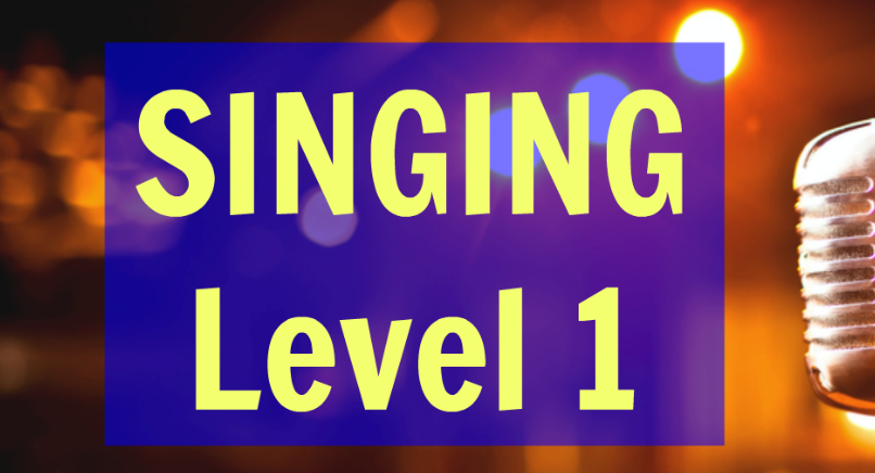 SINGING LEVEL 1 GROUP LESSON (6 weeks) + 1 free voice coaching TUESDAYS